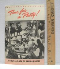 VINTAGE TIME FOR A PARTY CALUMET BAKING POWDER RECIPES 1940  COOKBOOK BOOKLET