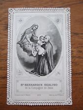 Antique holy lace card – Br. Bernardin Realino A72