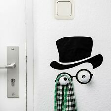 Mister Hookly COAT HOOKS Wall Art Sticker & 2 wood wall hooks by Donkey Products