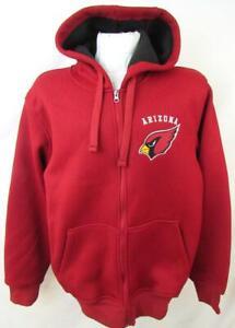 Arizona Cardinals Mens M Full Zip Embroidered Sherpa Lined Waffle Jacket ACDN 54