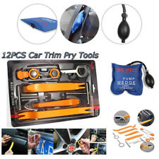 Car 12pc Removal Tools Kit panel Auto Dash Door Radio Trim With 1Air Pump wedge
