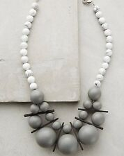 NEW Anthropologie David Aubrey Gray Statement Bib Necklace