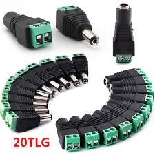 10Stk S484 DC Buchse 2,1 x 5,5 mm Adapter mit Schraubklemme für z.B Netzteil