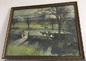 "J McIntosh Patrick ""The Tay Bridge From My Studio Window"" Reproduction - Dundee"