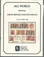 STANLEY GIBBONS 1984 GREAT BRITAIN & SEYCHELLES AUCTION CATALOG FREE USA  SHIP