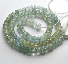 """95 CT 14"""" Teal Blue MULTI-COLOR SMOOTH MOSS AQUAMARINE RONDELLE BEADS 5-5.5 MM"""