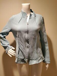 St John Blue Crepe Full Zip Jacket Blazer 12