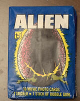 (1)-Vintage Unopened Wax Pack Bubble Gum Cards/Sticker-Movie+1979-Alien-S Weaver