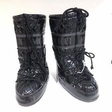 Technical Vinyl The Original Moon Boot BLACK Snow Winter Boots EU 35/38 6/7