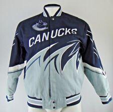 Vancouver Canucks GIII Men's Blue Cotton Twill Snap Jacket NHL L