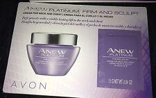 Avon Anew Platinum Firm & Sculpt Cream for Neck & Chest Samples .04 oz (2)
