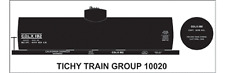 Tichy Train Group #10020S S Scale CDLX 8,000 Gallon Tank Car Decals
