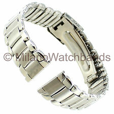 18mm Morellato Straight End Stainless Steel Silver Tone Clasp Watch Band