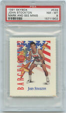 PSA 8 JOHN STOCKTON 1991-92 Skybox Mark & See Minis #539 Dream Team USA NM-MINT