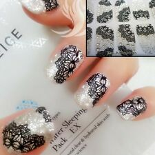 3D Sparkly Black LANCE Nail Art Wrap Full Cover Stickers #06052FreeP&P