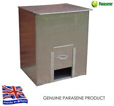 new PARASENE GALVANISED STEEL COAL BUNKER No 3 Fuel salt feed 3cwt storage 150kg