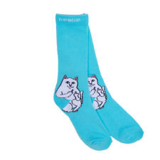 "RIPNDIP ""Lord Nermal"" Crew Socks (Baby Blue) Men's Cat Sock"