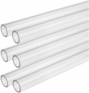 CLEAR ACRYLIC PERSPEX PLASTIC PIPE TUBE BAR HOLLOW - All Sizes - All Lengths