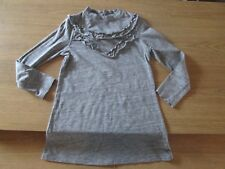 Next Girls Long Sleeve Jersey Ruffle Dress - 5 Years