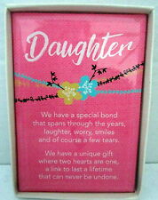 "SENTIMENTAL GLASS PLAQUE ""DAUGHTER"" WITH INSPIRATIONAL VERSE LOVELY GIFT BN"