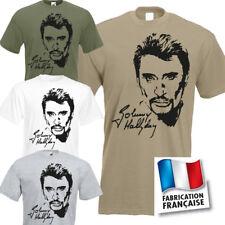 Tee-shirt Johnny Hallyday  V1 taille du S au 3XL.