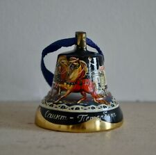 St Petersburg Russia Hand Painted Metal Hand Bell Ornament vintage
