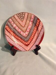 """HAND PAINTED HEYGIL DECORATIVE PLATE 7"""""""