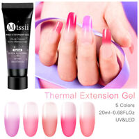 MTSSII Thermal Color Change 20ml Nail Poly UV Gel Quick Builder Extension Gel