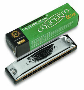 Seydel Concerto in G (HG) Richter-Tuned Octave Harmonica! Last One w/Brass Reeds