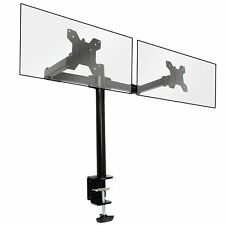Fully Adjustable Double Monitor Bracket Dual Arm Desk Stand
