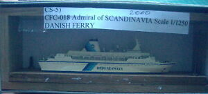 Admiral of Scandinavia 2000 Danish Ferry by Carat CFC-018, Scale 1/1250