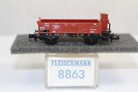 n2586, Fleischmann 8863 Offener Güterwagen GOE BOX Spur N mint