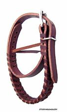 NEW LEATHER COWBOY NIGHT LATCH OR GRAB STRAP MAHOGNY COLOR HORSE TACK