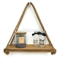 Wooden Retro Hanging Rack Stand Shelf Plant Support Nordic Style Wall Home