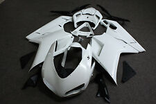 Unpainted White Injection Molded Fairing Kit for Ducati 848 1098 1198 2007-2012