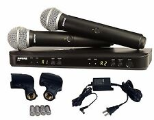 Shure Dual Handheld UHF Wireless Microphone System BLX288/PG58