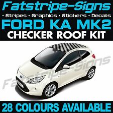 Ford Ka Mk Graphics Checker Roof Car Stripes Decals Stickers St Street Sport Rs
