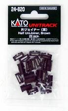 Kato 24-820 Half Unijoiner Brown (20 pieces) (N scale)