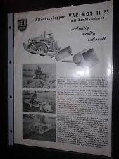 Prospekt sales brochure Hela diesel allradschlepper varimot 11 CV técnico