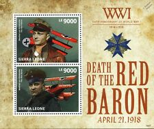 Manfred von Richthofen (The RED BARON) Fokker Dr.I WWI Aircraft Stamp Sheet