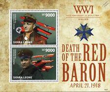 Manfred von Richthofen (The RED BARON) Fokker Dr.I WWI Aircraft Stamp Sheet