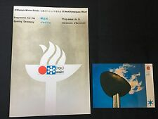 1972 SAPPORO OLYMPIC DAMAGE OPENING CEREMONY PROGRAMME PLUS POST CARD