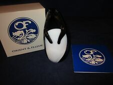 Orient & Flume Paperweight Glossy White & Black Penguin ~ Rare ~ New in Box