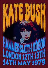 KATE BUSH - CONCERT POSTER HAMMERSMITH LONDON 12th 13th & 14th MAY 1979 (A3SIZE)