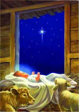 NEW LARGE SWEET TOLAND HOUSE FLAG BABY JESUS TRUE MEANING OF CHRISTMAS 28 X 40