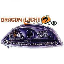 LHD Projector Headlights Pair LED Dragon Clear Black For Seat Ibiza 02-08