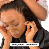 Free Part Human Hair 13x4 Transparent Lace Frontal Closure Straight Virgin Hair