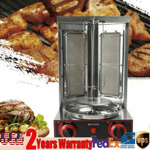 LPG Grill Machine Gas Vertical Broiler Shawarma Machine Spinning Doner Kebab