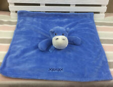 Honey Bunny Blue Hippo Comforter Blanket Blankie Doudou by Piccolo Bambino
