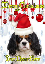 Cavalier King Charles Spaniel ptcc122 Christmas card A5 Personalised Greetings